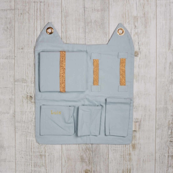 Rangement mural, Bleu gris