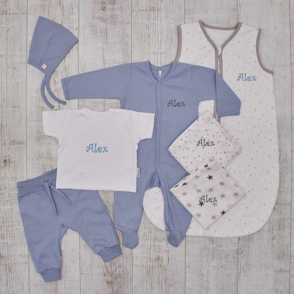 The perfect Babybirth set for newborn, blue