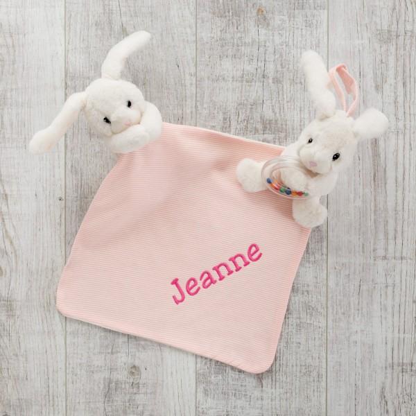 Rattle & Comforter, Pink