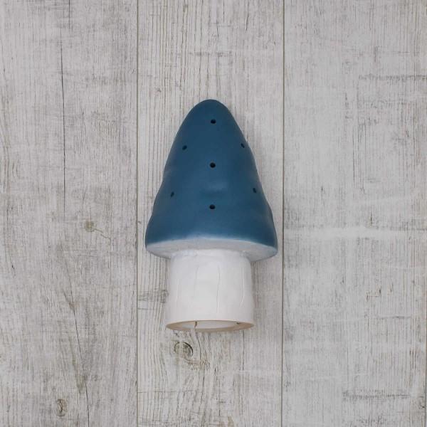 Veilleuse petit champignon, bleu