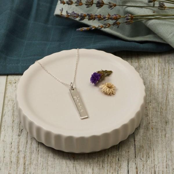 Pendant, silver, engraving stick