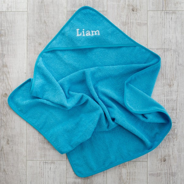 Hooded towel, Turquoise