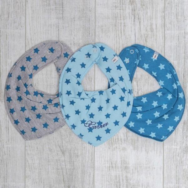 Neckcloth 3-Set, Blue stars