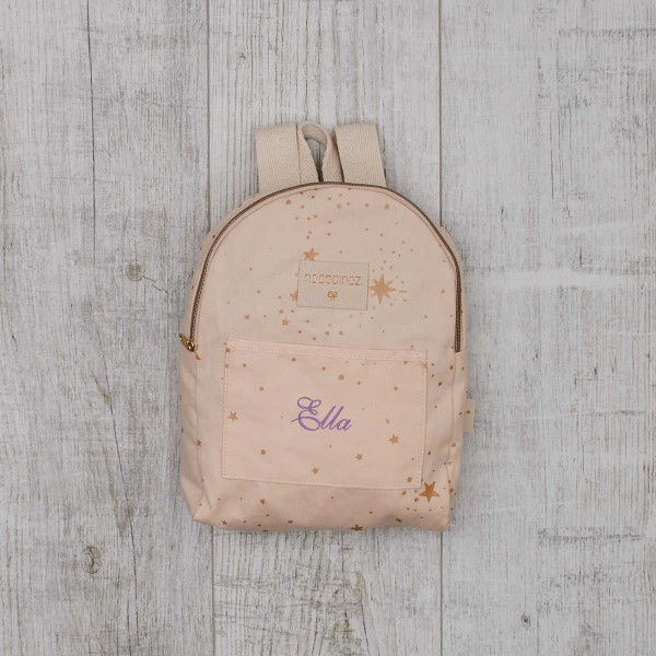 Mini backpack light pink with stars