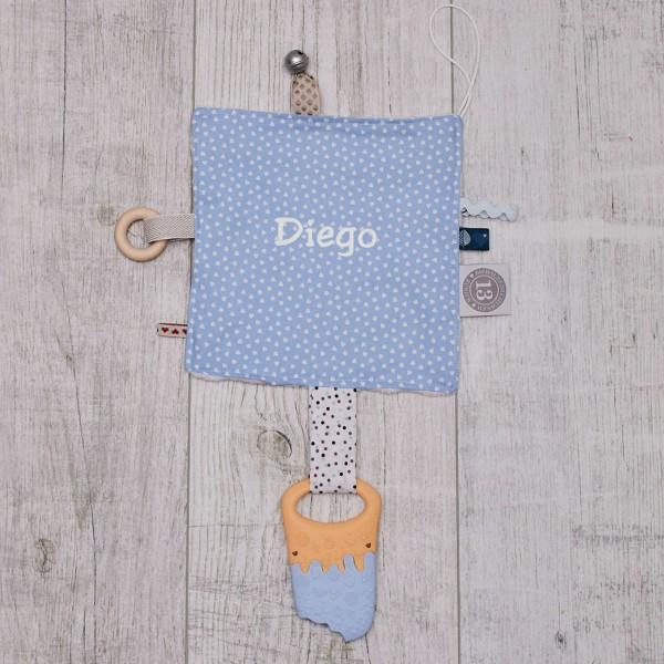 Papier froissé bébé, les coeurs, bleues