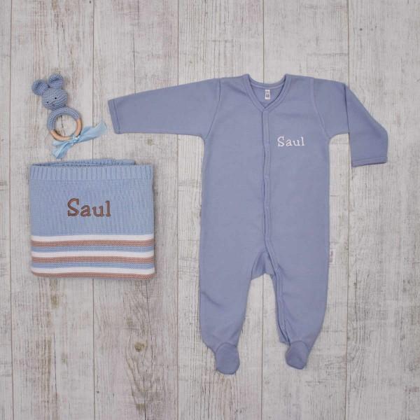 """Coffret les """"Essentiels"""" tricot et crochet pour bébé, bleu"""