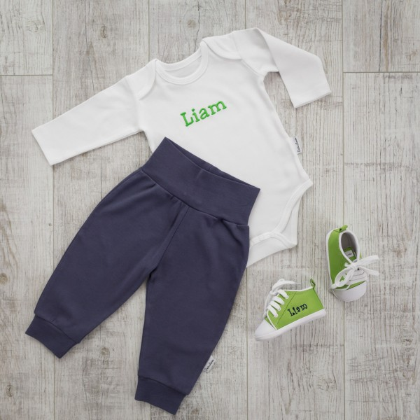 Body and Trouser Set, Blue/Green