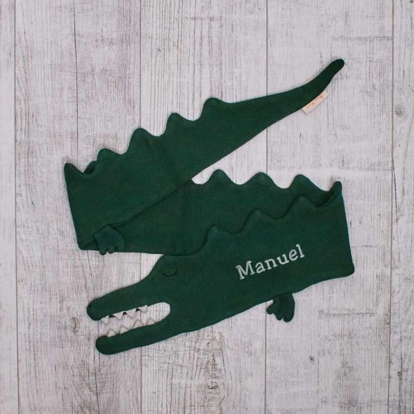 Écharpe tricotée - Crocodile