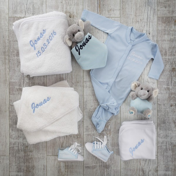 """Geschenkset """"Einmalig"""" Blau"""