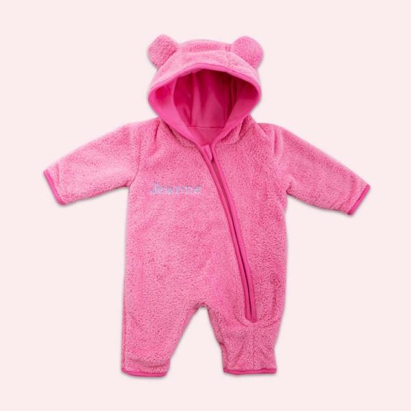 Fleece overall, pink