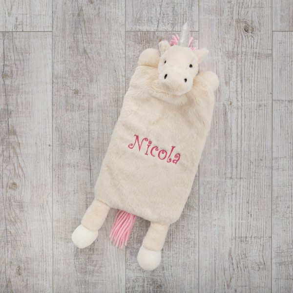 Hot water bottle cover, Cuddly Unicorn