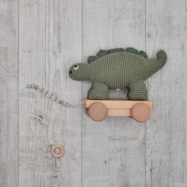 Crochet - animal à tirer, Dino