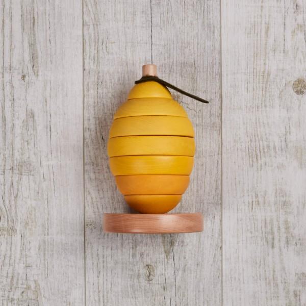 Stapelspielzeug, Holz, Zitrone