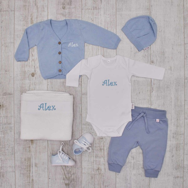 """All our classics"" - The perfect and complete Babyset - blue"