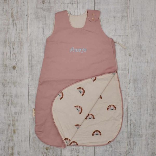 Schlafsack 'Regenbogen', Rosa 0-6M