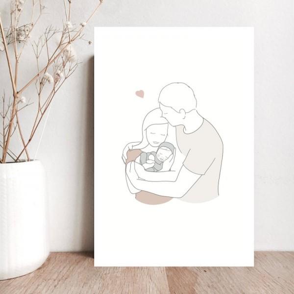 "Carte ""Famille Chérie"""
