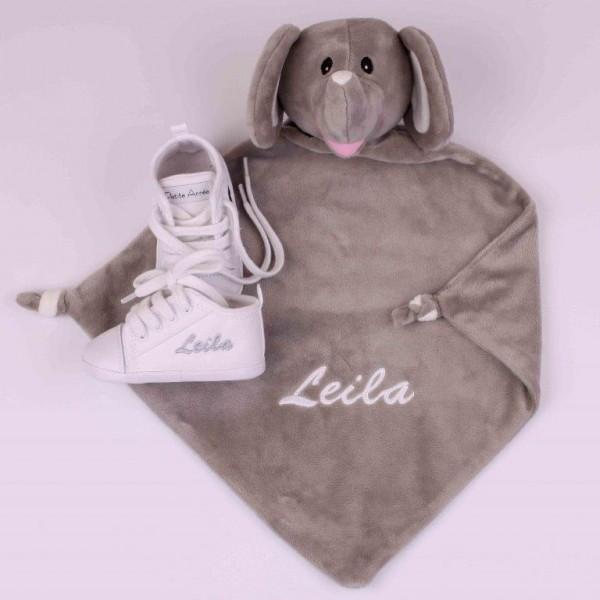 Schmusetuch Elefant & Weisse Schuhe