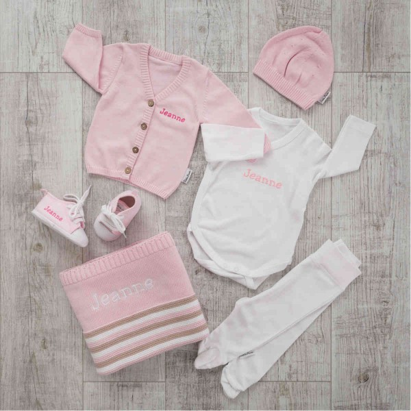 6-piece Set with Pullover, Pink