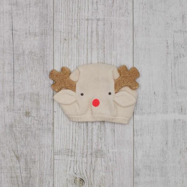 Knitted Bonnet Reindeer