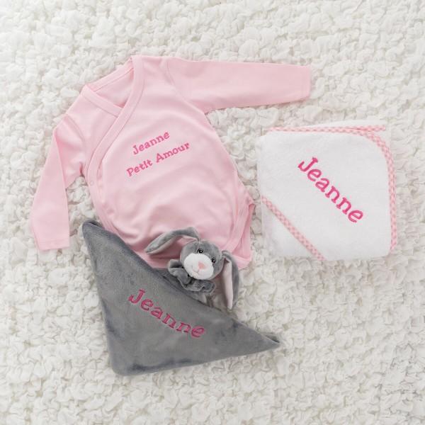 3-teiliges Geschenkset mit Body - Rosa