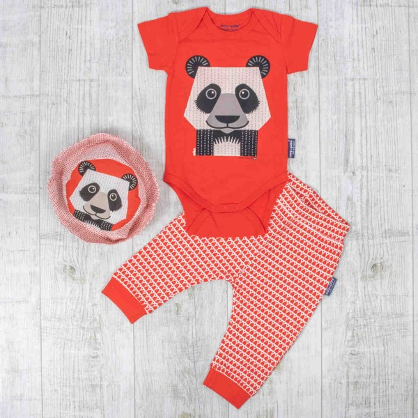 Body à manches courtes set, panda
