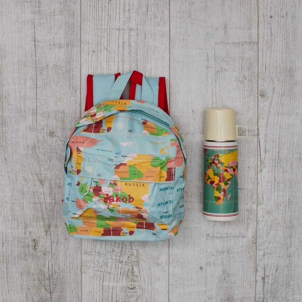 "Baby bath giftset,""Vintage World Map"""