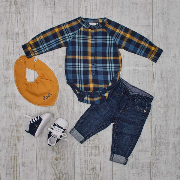 Set Jeans, Babyshoes & Checkered Body