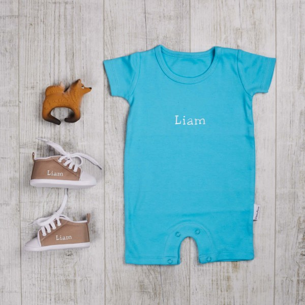 Three piece set body, biting toy & shoes, turquoise