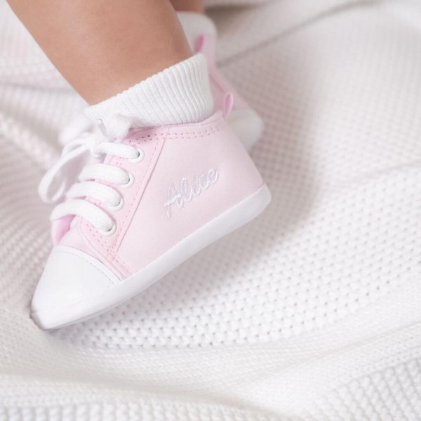 Personalisierte Rosa Babyschuhe