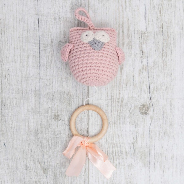 Carillon Hibou , rose