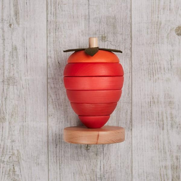 Stapelspielzeug, Holz, Erdbeere