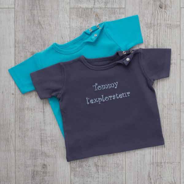 T-Shirt Duo, Blau, Oeko-Tex