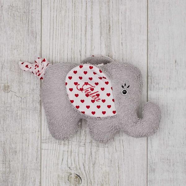 Music box Elephant, red Hearts, ''Bella Ciao''