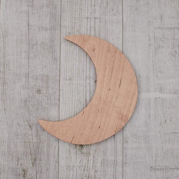 Moon Wall Light Natural Wood