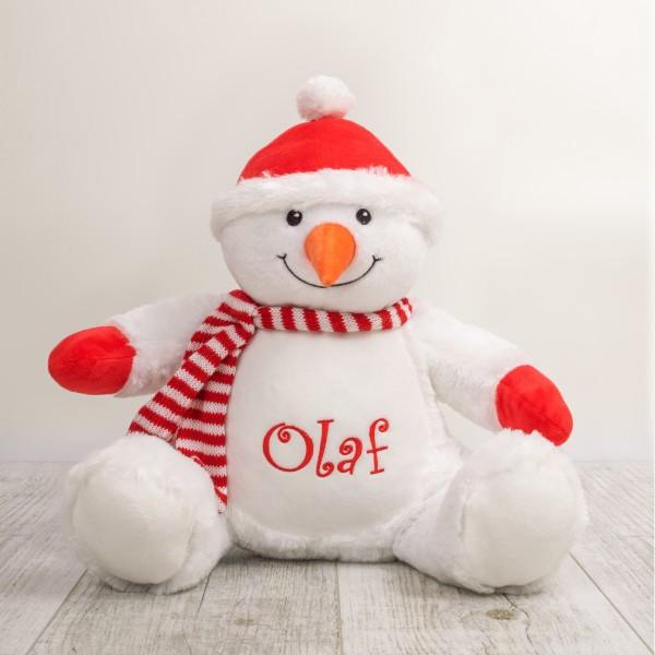 Peluche, 30 cm, Bonhomme de neige