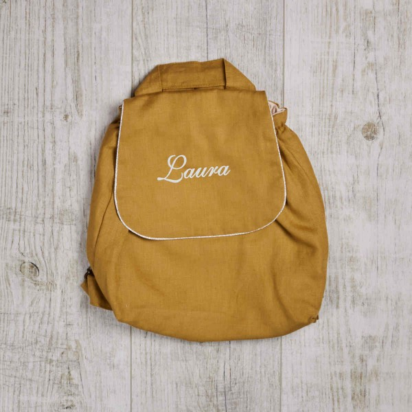 Children Backpack, mustard yellow