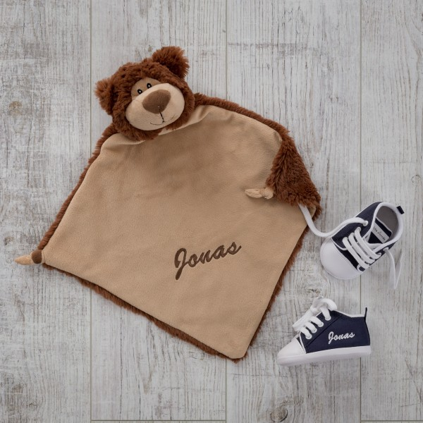 Comforter & Baby shoes, Bear und Marineblue