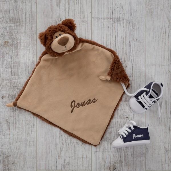 Doudou & chaussures bébé, ours et bleu marine
