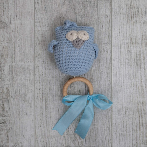 Music box Owl, blue