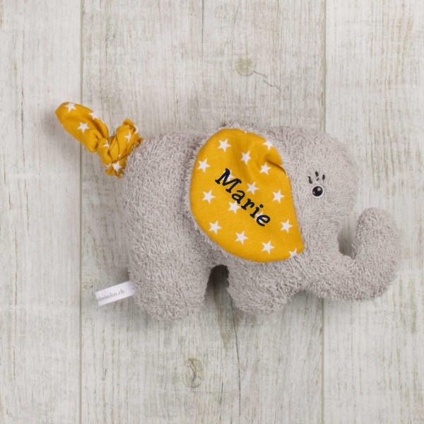 Music box Elephant, mustard yellow