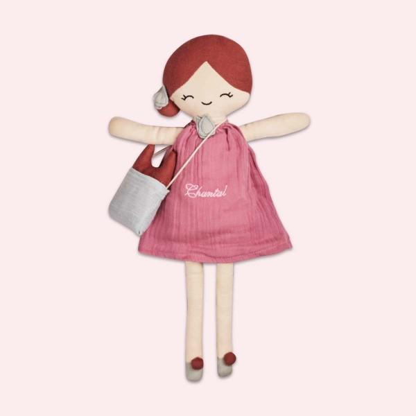 Poupée 40 cm, 'Framboise', rosa