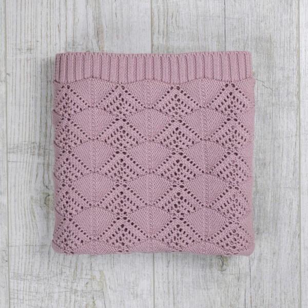 Knitted Vintage Blanket, Mauve