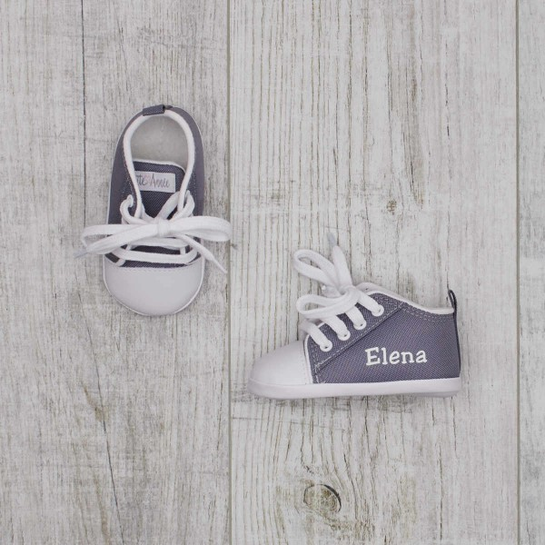 Baby shoes, Grey