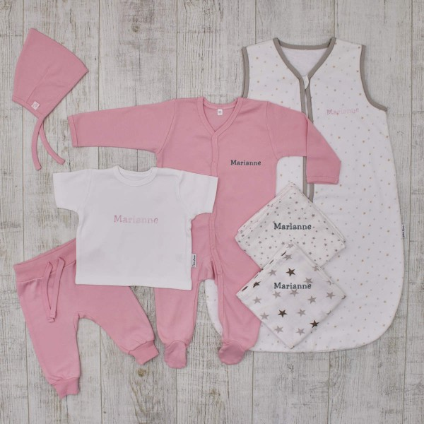 The perfect Babybirth set for newborn, pink
