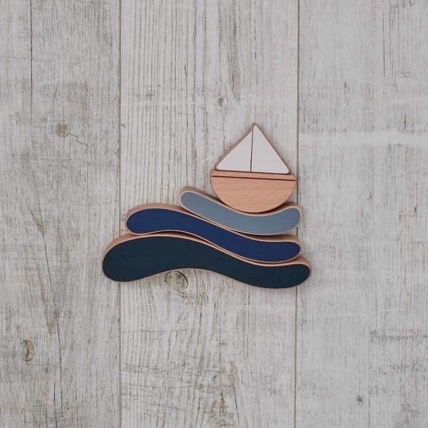 Stapelspielzeug Boot und Wellen