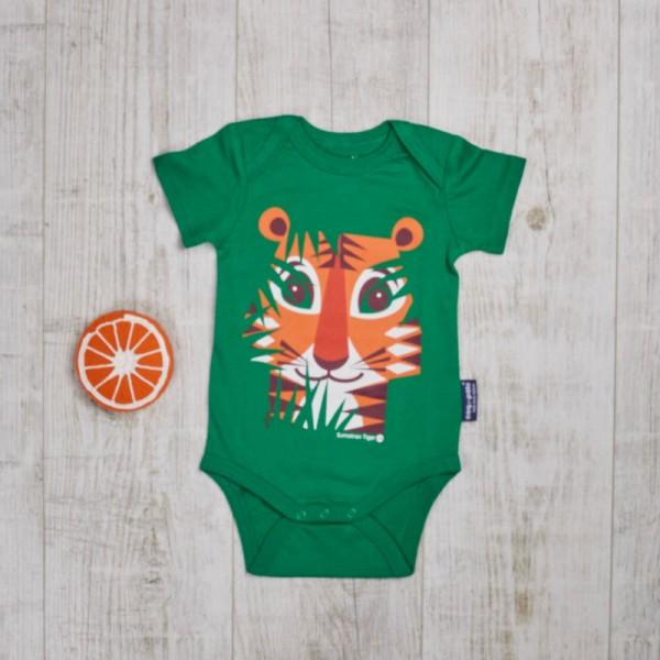 Ensemble jouet de dentition et body à manches courtes, Tigre et Orange