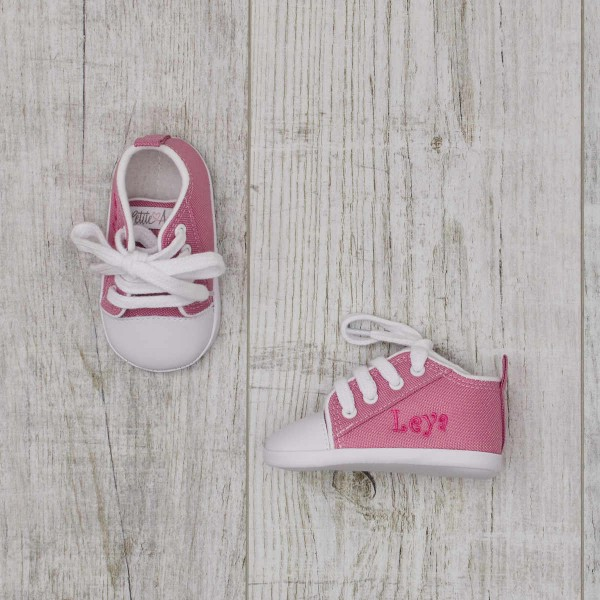 Baby shoes, electric pink