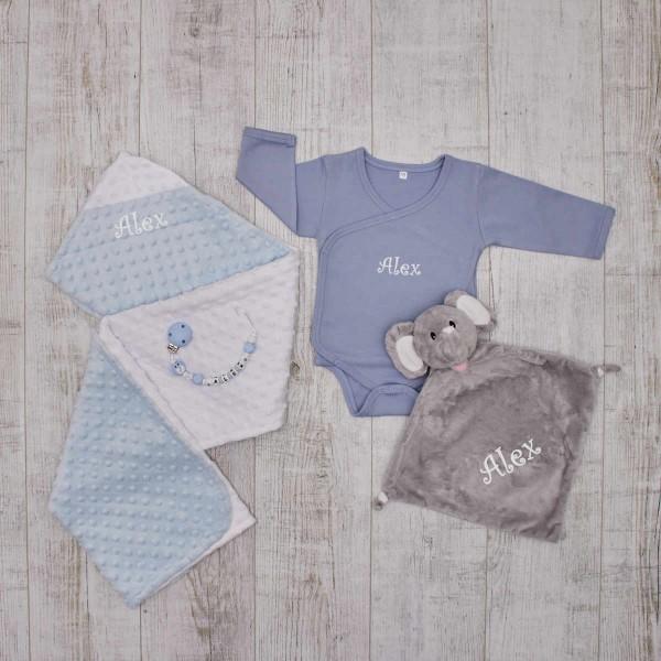 Complet Babyset - Elephant, blue