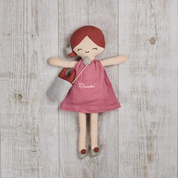 Puppe 40 cm, 'Berry' Rosarot